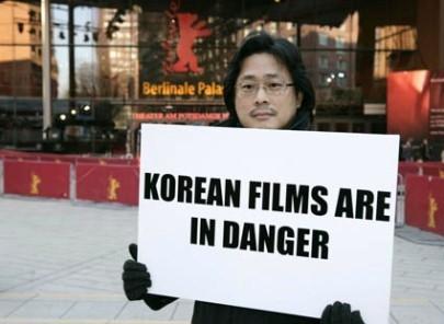 Park Chan-wook protesta a Berlino 2006 per la crisi delle sale coreane