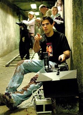 Eli Roth sul set di Hostel