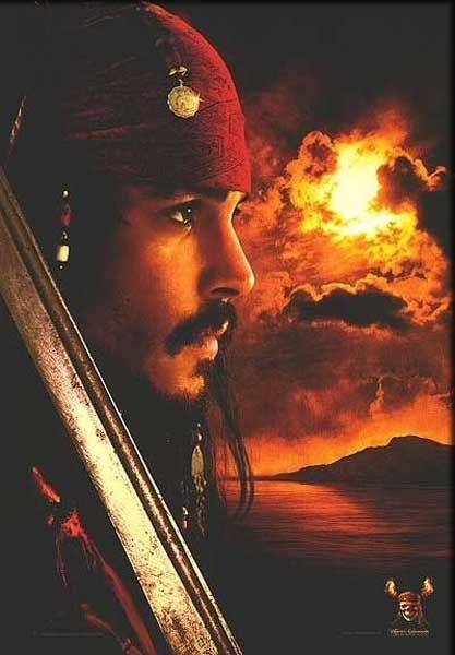 Johnny Depp in Pirati dei Caraibi - La maledizione del forziere fantasma
