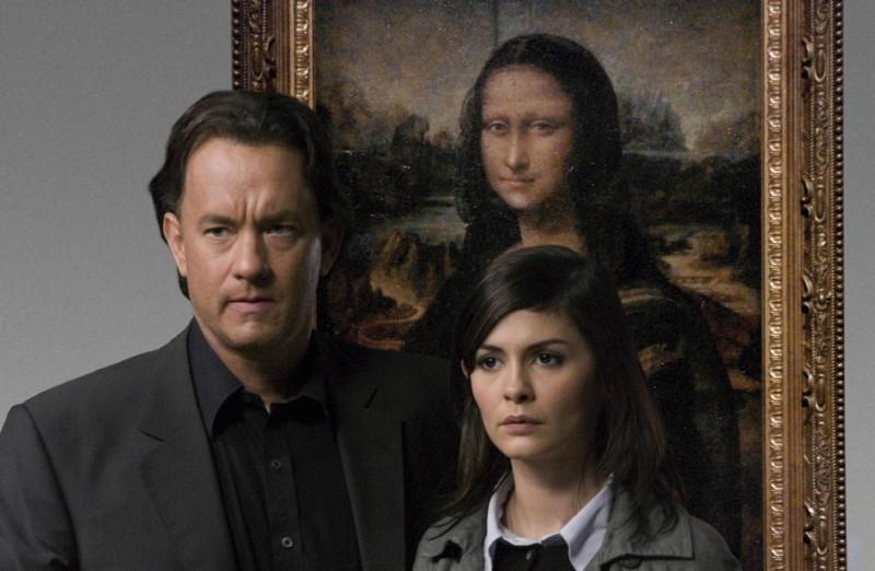 Tom Hanks e Audrey Tautou in una scena del film Il codice Da Vinci