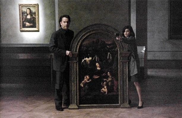 Tom Hanks e Audrey Tautou in una scena de Il codice Da Vinci