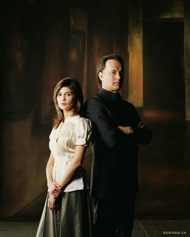Tom Hanks e Audrey Tautou in un'immagine promozionale de Il codice Da Vinci