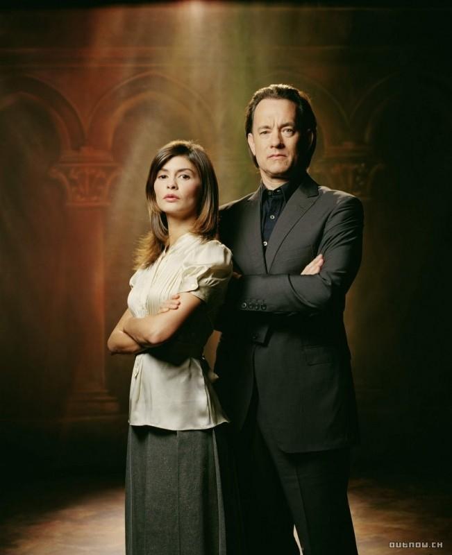 Tom Hanks e Audrey Tautou ne Il codice Da Vinci