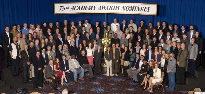 La tradizionale foto di gruppo dei candidati all'Oscar