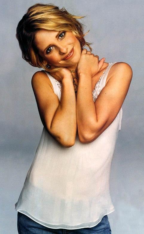 La bionda attrice americana Sarah Michelle Gellar