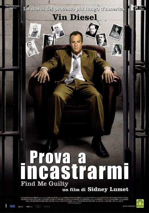 La locandina italiana di Prova a incastrarmi - Find Me Guilty