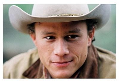 un intenso ed emozionante primo piano di Heath Ledger ne I segreti di Brokeback Mountain