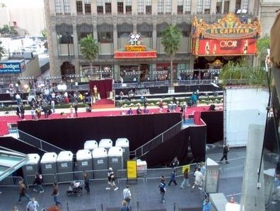 Una vista del red carpet