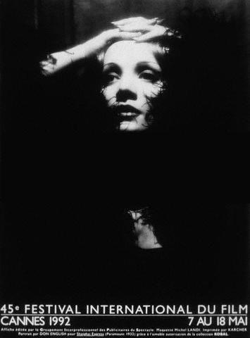 Cannes '92: il manifesto dedicato a Marlene Dietrich