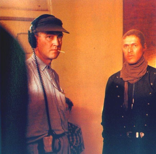 David Lynch e Willem Dafoe sul set di Cuore Selvaggio