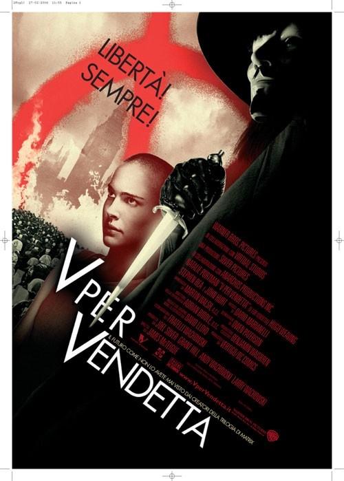 La locandina italiana di V for Vendetta