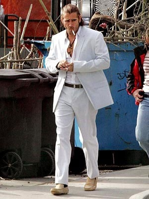 Colin Farrell sul set di Miami Vice