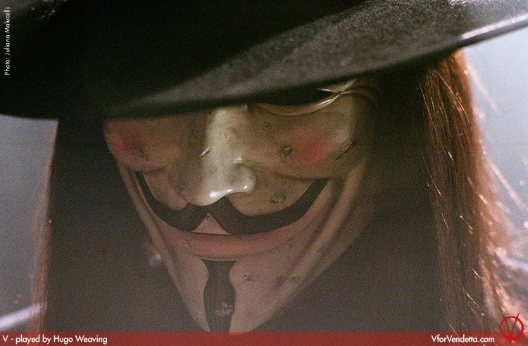 Hugo Weaving in V for Vendetta, del 2005