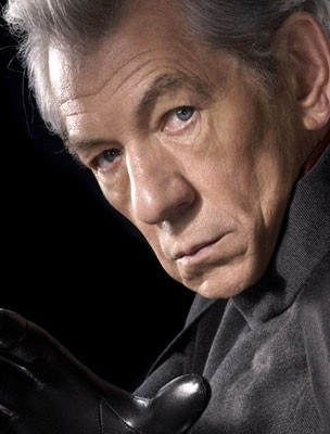 Ian McKellen in una foto promozionale per X-Men 3