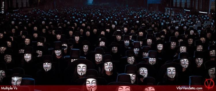 Una suggestiva immagine promo per V for Vendetta
