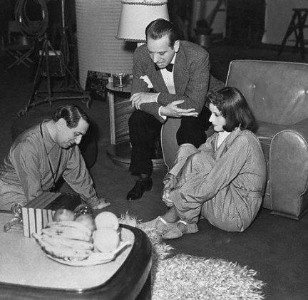 Greta Garbo, Melvyn Douglas ed Ernst Lubitsch in una pausa di NINOTCHKA
