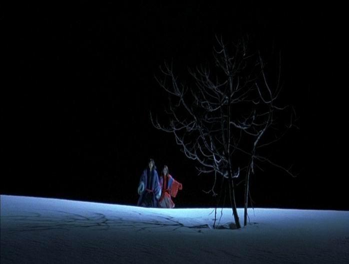 Hidetoshi Nishijima e Miho Kanno in una scena di DOLLS, diretto da Kitano nel 2002
