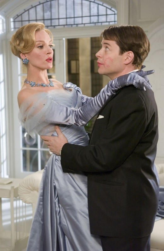 Matthew Broderick e Uma Thurman in una scena di The Producers