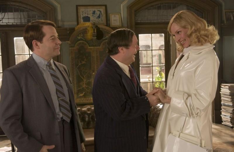 Matthew Broderick, Nathan Lane e Uma Thurman in una scena di The Producers