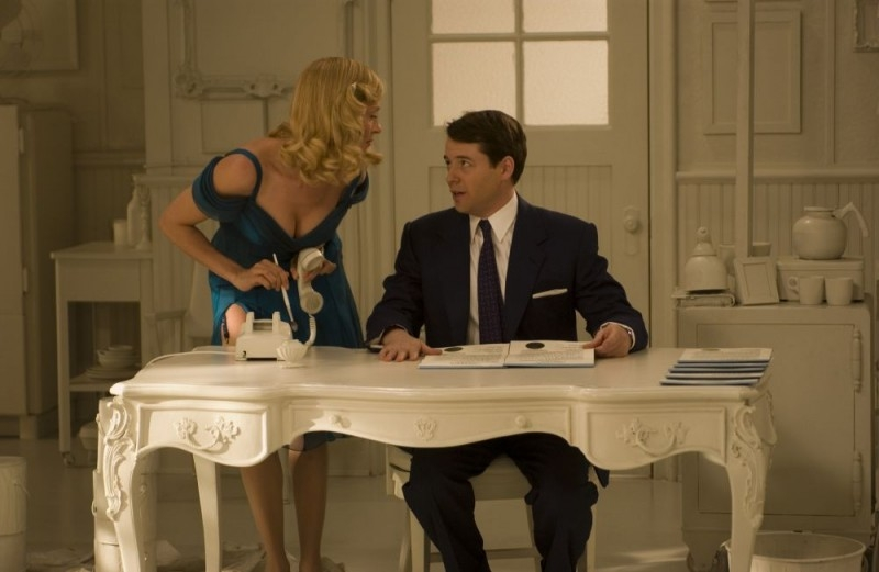Uma Thurman con Matthew Broderick in una scena di The Producers