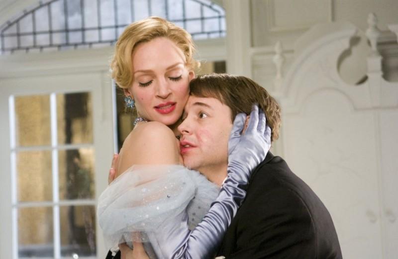 Uma Thurman e Matthew Broderick in una sequenza di The Producers