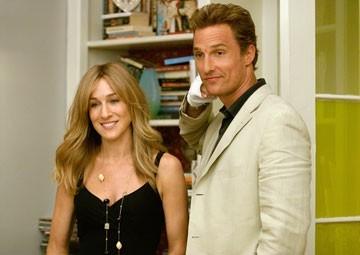 Matthew McConaughey con Sarah Jessica Parker in A casa con i suoi
