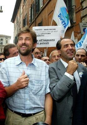 Nanni Moretti e Antonio Di Pietro