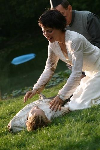 Lori Petty in una scena del film Fair Haired Child