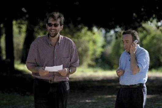 Silvio Orlando e Nanni Moretti sul set de Il caimano