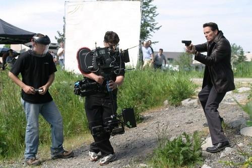 Steven Weber sul set di Jenifer