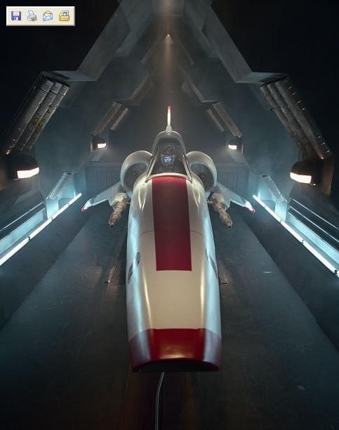 Un'astronave di Battlestar Galactica