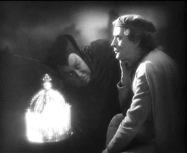 Emil Jannings e Gösta Ekman in una scena di FAUST diretto da Murnau nel 1926