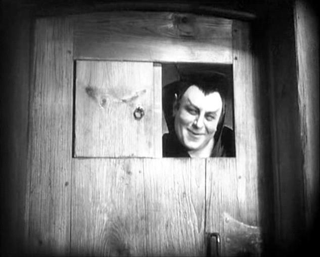 Emil Jannings in una scena di FAUST, diretto da Murnau negli anni '20