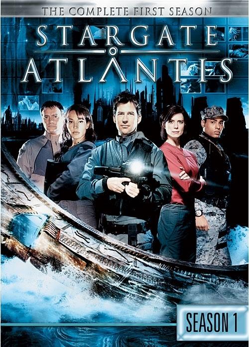 La copertina DVD di Stargate Atlantis - The Complete First Season