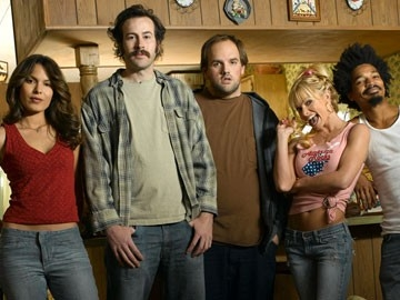 Nadine Velazquez, Jason Lee, Ethan Suplee, Jaime Pressly e Eddie Steeples in My Name Is Earl