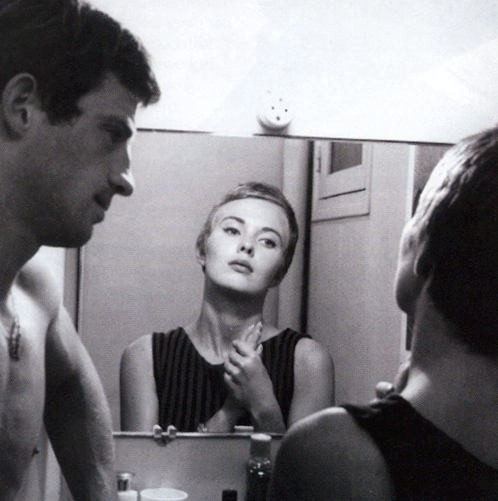 Jean Seberg e Jean-Paul Belmondo in Fino all'ultimo respiro, del 1960