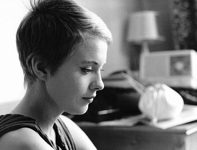 Jean Seberg sul set del film Fino all'ultimo respiro