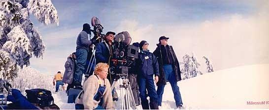 Un'immagine dal set di Millennium
