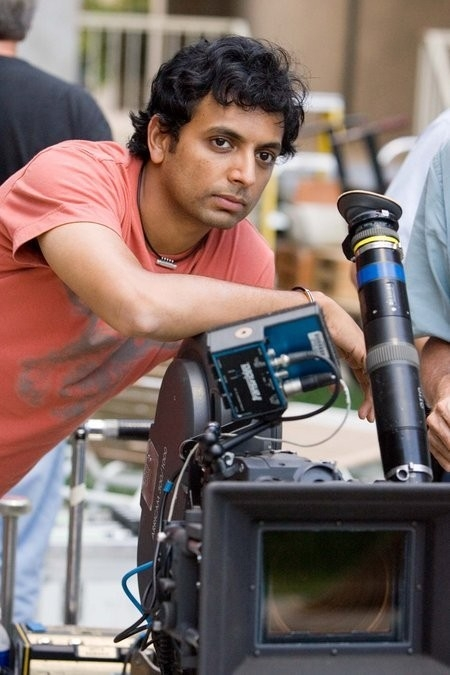 M. Night Shyamalan sul set di Lady in the Water