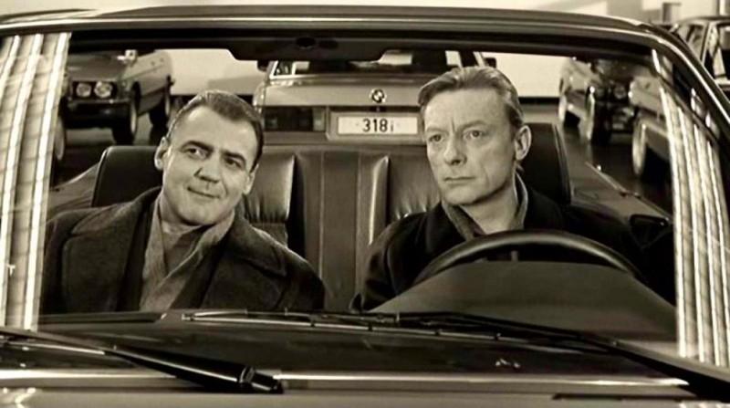 Bruno Ganz con Otto Sander in una scena di IL CIELO SOPRA BERLINO
