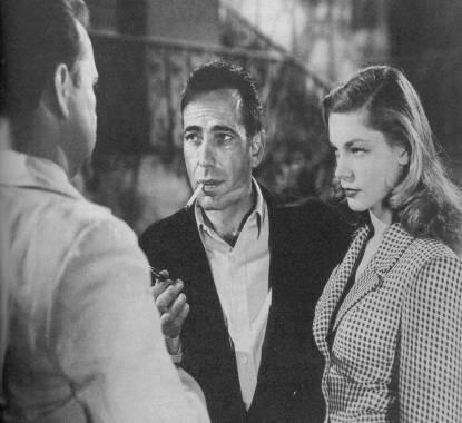 John Ridgely, Humphrey Bogart e Lauren Bacall in una scena di IL GRANDE SONNO