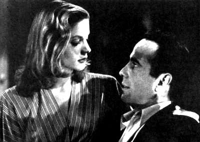 Lauren Bacall e Humphrey Bogart in una immagine de Il grande sonno