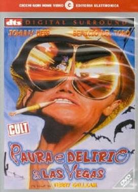 La copertina DVD di Paura e delirio a Las Vegas