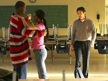 Rob Brown, Yaya DaCosta e Antonio Banderas in una scena del film Ti va di ballare? - Take the Lead