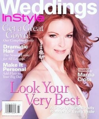 Marcia Cross sulla cover di un magazine