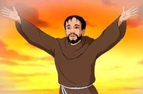 Una scena di Padre Pio