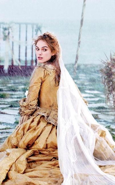 La bella Keira Knightley in Pirati dei Caraibi - la maledizione del forziere fantasma