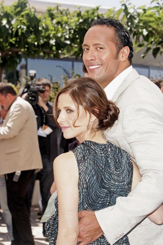 The Rock e Sarah Michelle Gellar a Cannes per presentare Southland Tales