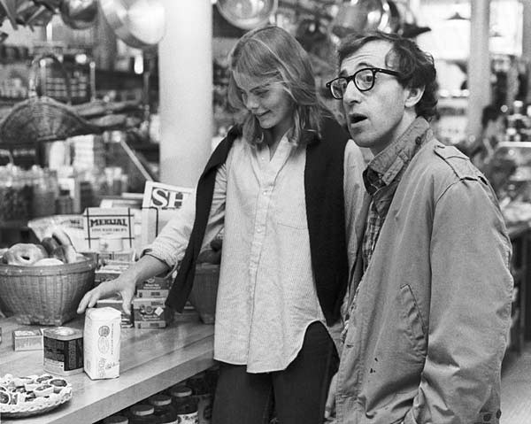 Diane Keaton accanto a Woody Allen in Manhattan
