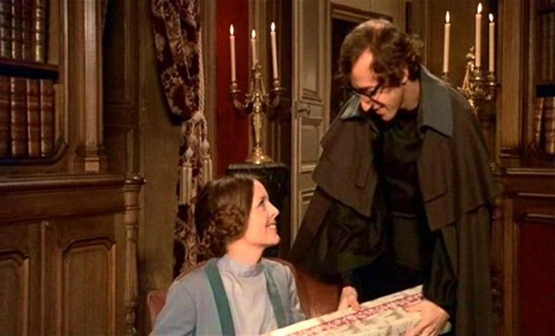 Diane Keaton e Woody Allen in una scena di AMORE E GUERRA